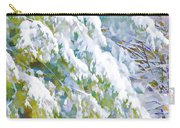 Beautiful Trees Covered With Snow In Winter Park Carry-all Pouch