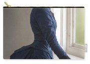 Beautiful Victorian Woman At The Window In A Blue Bussle Dress Carry-all Pouch