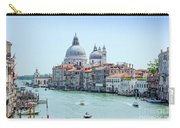 Beautiful View Of Water Street And Old Buildings In Venice, Ital Carry-all Pouch