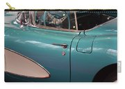Beautiful Vintage Blue Shining Car Close Up Carry-all Pouch