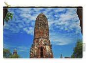 Beautiful Wat Phra Ram Temple In Ayutthaya, Thailand  Carry-all Pouch