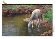 Beautiful White Horse And Enchanting Spring Carry-all Pouch