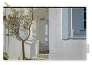 Beautiful White Mediterranean Architecture With Blue Frames. Carry-all Pouch