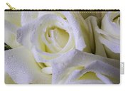 Beautiful White Roses Carry-all Pouch