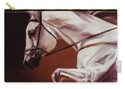 Beautiful White Running Horse 9iu Carry-all Pouch
