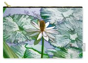 Beautiful White Water Lilies Flower Carry-all Pouch