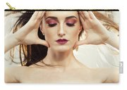 Beautiful Woman With Windswept Hair Carry-all Pouch
