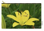 Beautiful Yellow Lily In A Garden During Spring Carry-all Pouch