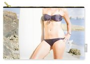 Beautiful Young Blond Surf Woman Carry-all Pouch