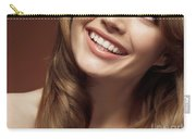 Beautiful Young Smiling Woman Carry-all Pouch