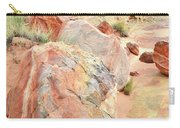 Beautifully Colored Boulders In Wash 3 - Valley Of Fire Carry-all Pouch