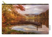 Beauty Of The Lake In Autumn Deep Tones Carry-all Pouch