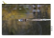 Beaver Swimming  Late Evening Carry-all Pouch