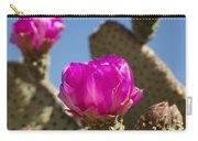 Beavertail Cactus Blossom 2 Carry-all Pouch by Kelley King