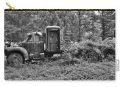 Becoming A Part Of The Landscape Black And White Carry-all Pouch