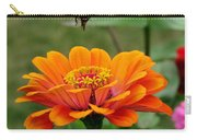 Bee Above Orange Zinnia Carry-all Pouch