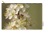 Bee And Blossoms Carry-all Pouch