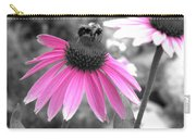 Bee And Cone Flower Carry-all Pouch