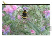 Bee And Flower Carry-all Pouch
