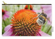 Bee And Pink Flower Carry-all Pouch