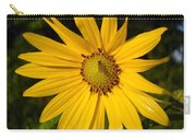 Bee And Yellow Flower Carry-all Pouch