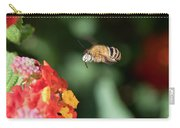 Bee, Bumblebee, Flying To A Flower, In Marseille, France Carry-all Pouch