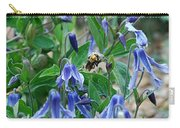 Bee Buzzing Through Blue Beauty Carry-all Pouch
