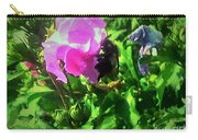Bee Climbing Into Flower Carry-all Pouch