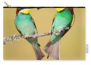 Bee-eater Valentine Heart Carry-all Pouch