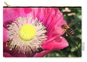 Bee In A Flower Carry-all Pouch