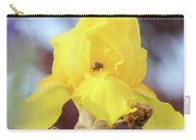 Bee In An Iris Bloom Carry-all Pouch by Ann E Robson