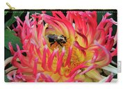 Bee In Dahlia Carry-all Pouch