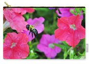 Bee In Flower Garden Carry-all Pouch