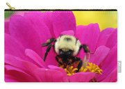 Bee On A Hot Pink Zinnia Carry-all Pouch