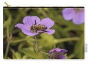 Bee On A Purple Flower Carry-all Pouch