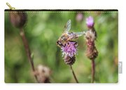 Bee On A Thistle Flower Carry-all Pouch