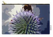 Bee On An Allium Carry-all Pouch