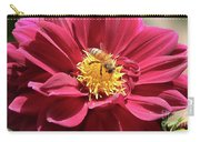 Bee On Beautiful Dahlia Carry-all Pouch