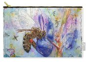 Bee On Blue Lupin Blossom. Carry-all Pouch