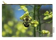 Bee On Broccoli Flower Carry-all Pouch