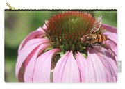 Bee On Echinacea Carry-all Pouch