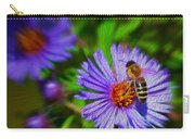 Bee On Lavender Flower Carry-all Pouch