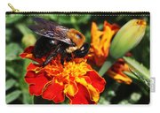 Bee On Marigold Carry-all Pouch by William Selander