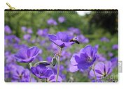Bee On Perenial Geranium Rozanne Carry-all Pouch