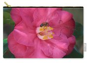 Bee On Pink Camellia Carry-all Pouch
