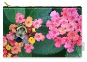 Bee On Rainy Flowers Carry-all Pouch
