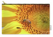 Bee On Sunflower Summer Nature Scene Carry-all Pouch