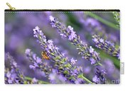 Bee On The Lavender Carry-all Pouch