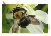 Bee On White Carry-all Pouch