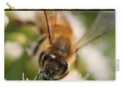 Bee On White Vertical Carry-all Pouch